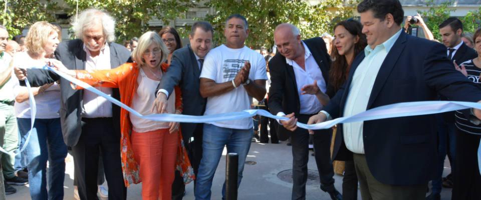 Se inauguraron las obras de puesta en valor y refacciones en el Pasaje Wilde de calle Nueva York