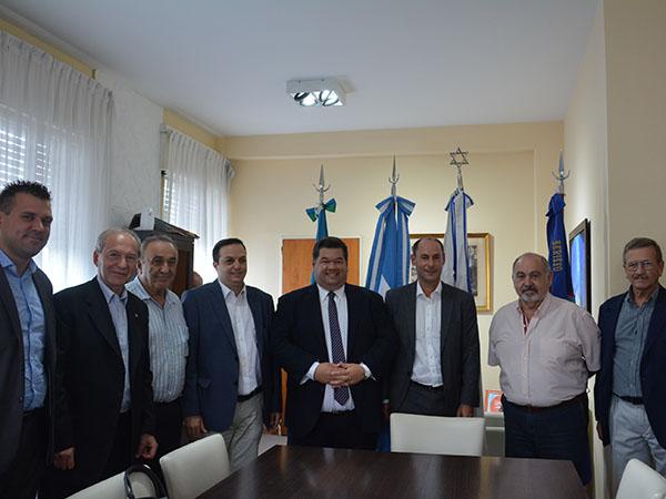 El intendente Jorge Nedela recibió al presidente de DAIA Ariel Cohen Sabban