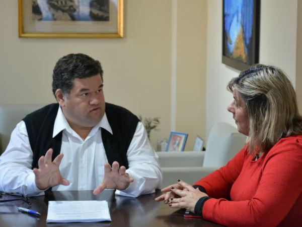 El intendente se reunió con la presidenta del Consejo Escolar para analizar las gestiones en materia edilicia de la Escuela Secundaria Nº 1