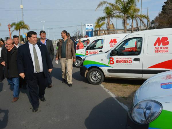 El Municipio presentó más de treinta vehículos que sumó en pocos meses al parque automotor para distintas áreas y servicios