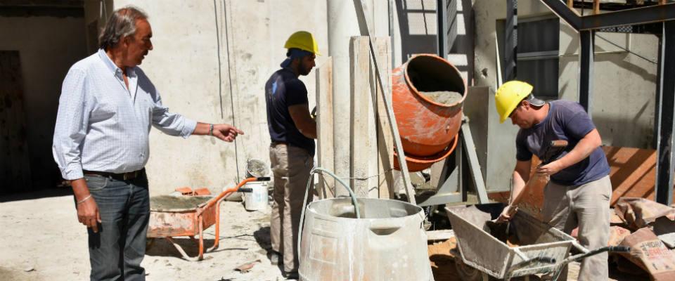 Continúan las obras de construcción de la nueva Guardia del Hospital de Berisso